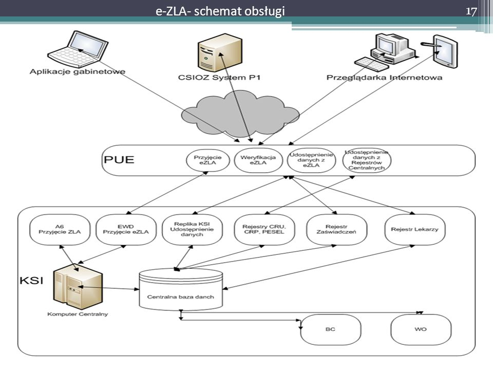 e-ZLA- schemat obsługi