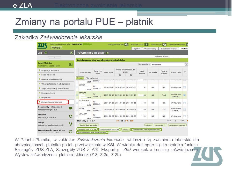 Zmiany na portalu PUE – płatnik
