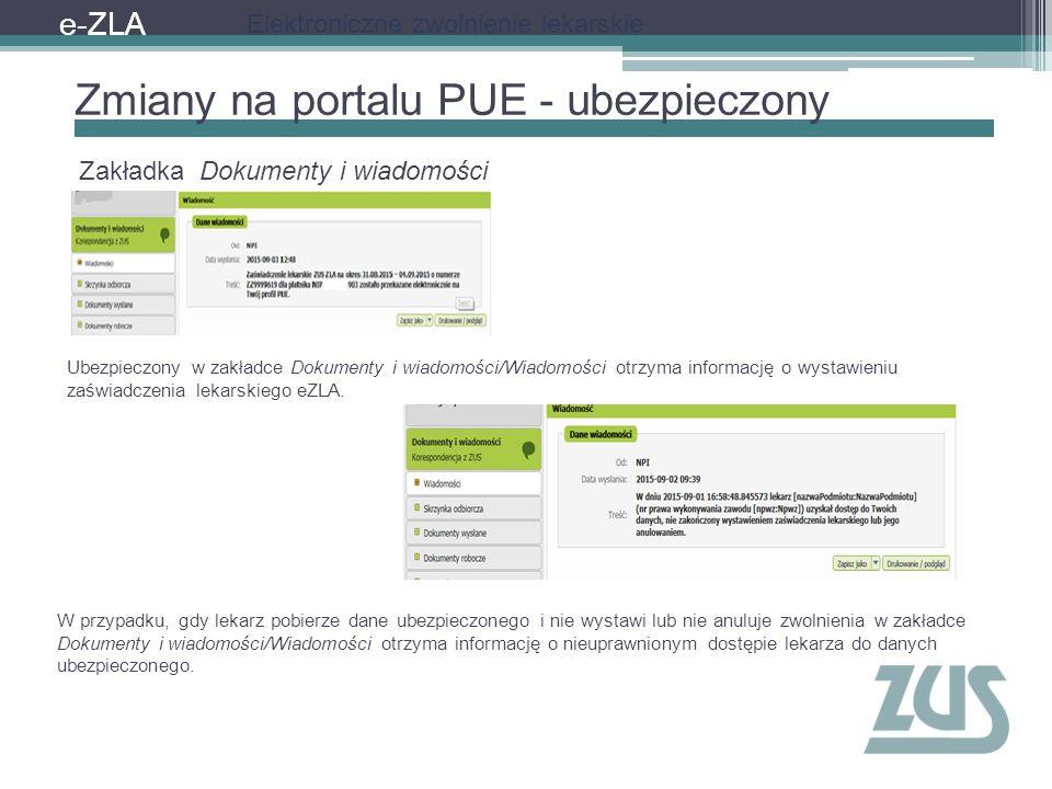Zmiany na portalu PUE - ubezpieczony