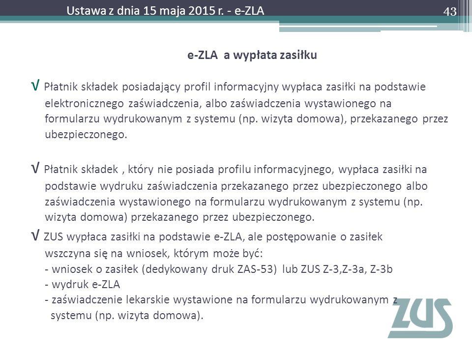 e-ZLA a wypłata zasiłku