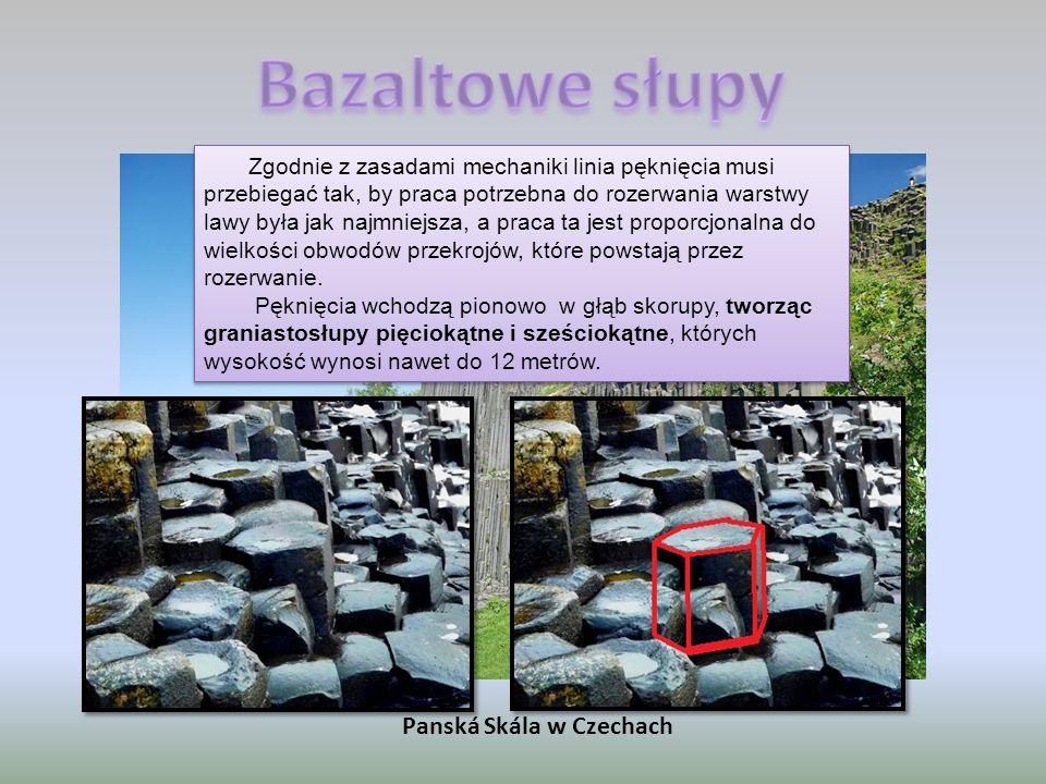 Bazaltowe słupy Panská Skála w Czechach