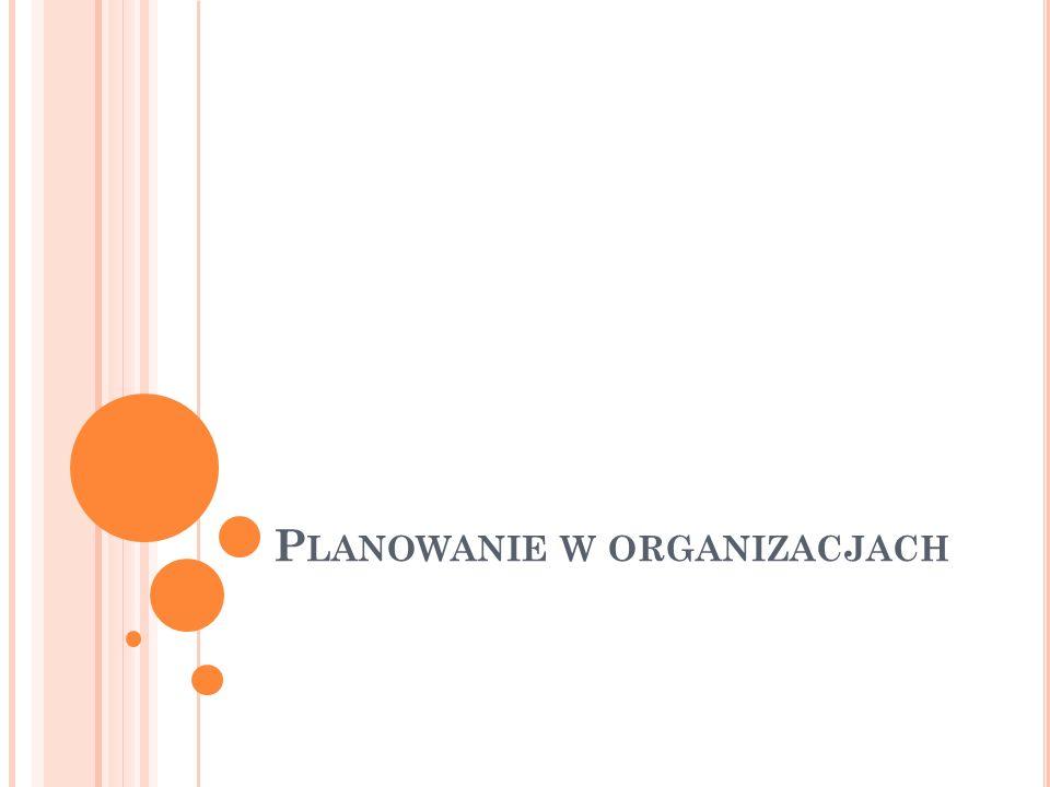 Planowanie w organizacjach