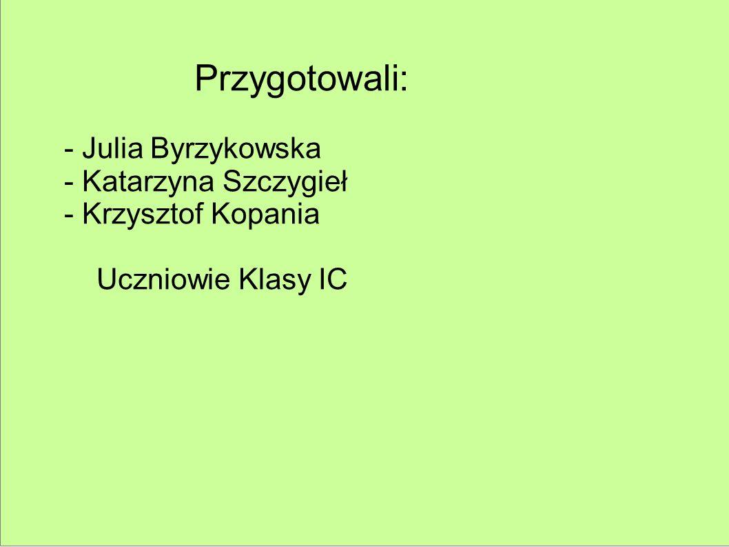 Przygotowali: - Julia Byrzykowska - Katarzyna Szczygieł