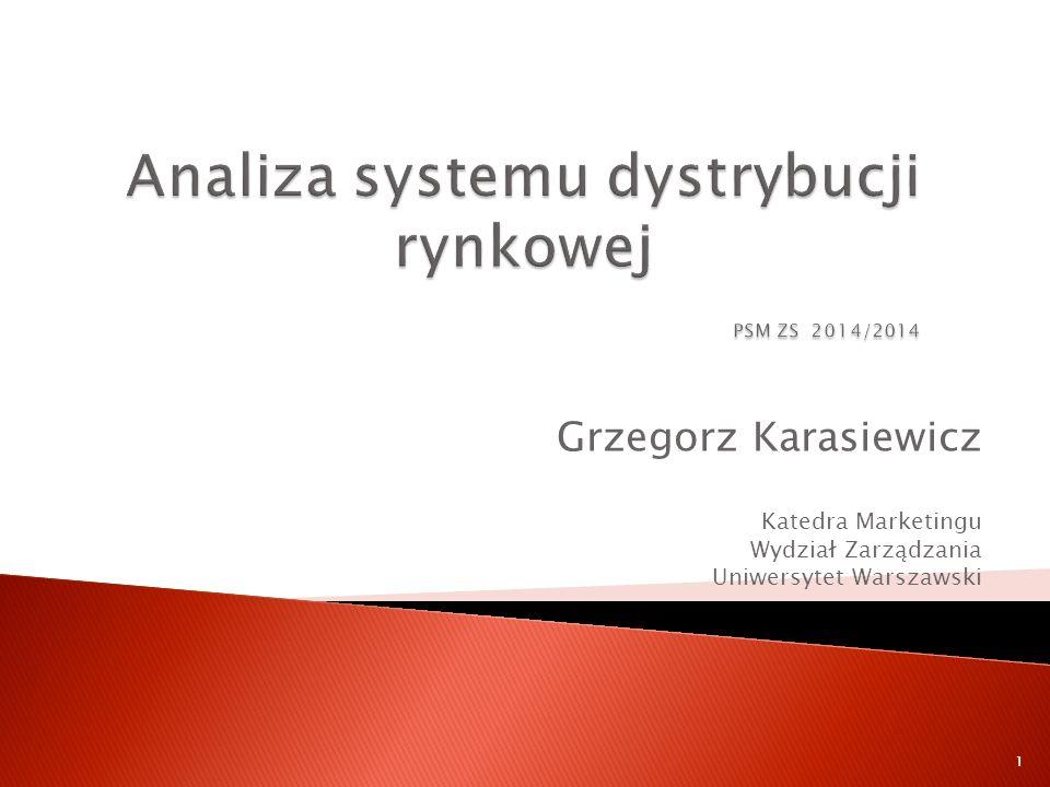 Analiza systemu dystrybucji rynkowej PSM ZS 2014/2014