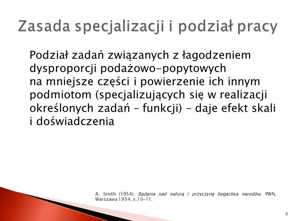 Zasada specjalizacji i podział pracy