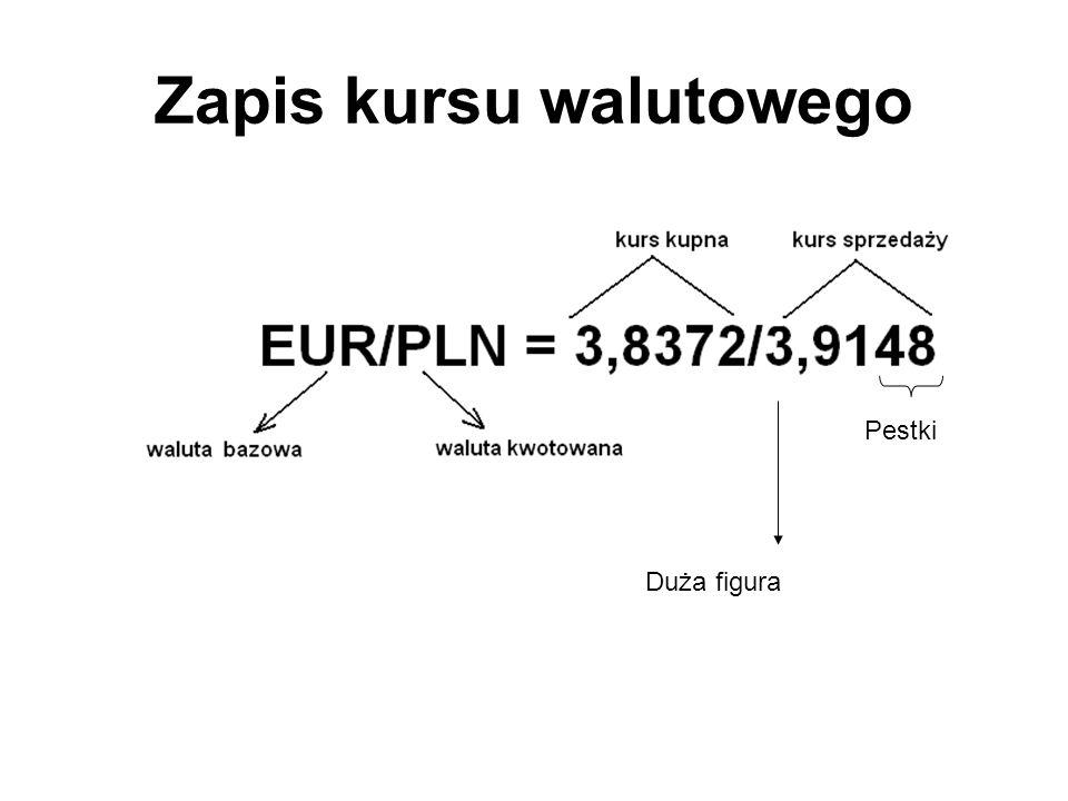 Zapis kursu walutowego