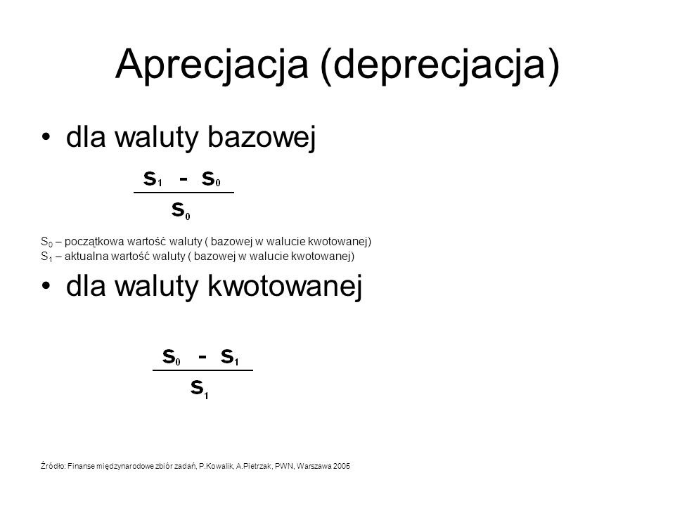 Aprecjacja (deprecjacja)
