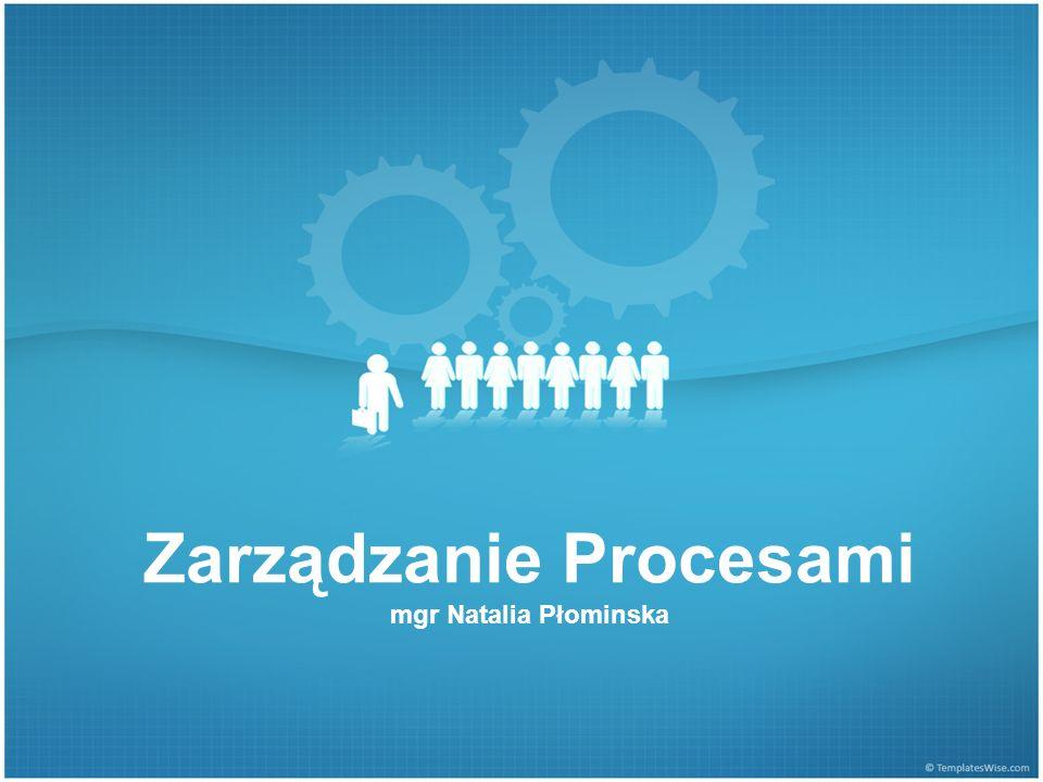 Zarządzanie Procesami mgr Natalia Płominska