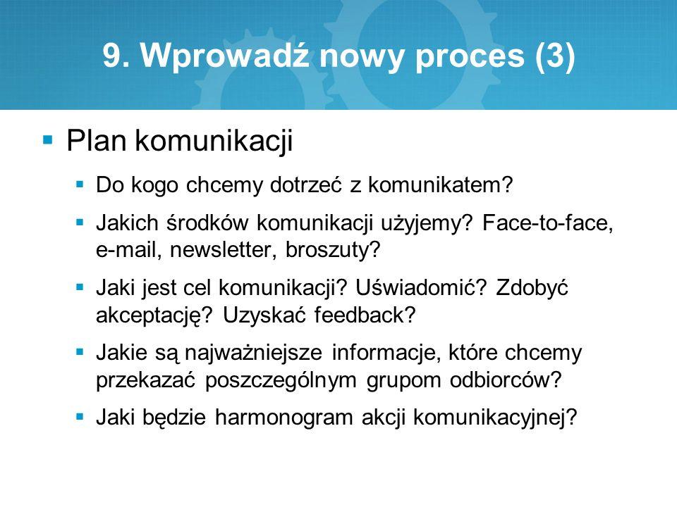 9. Wprowadź nowy proces (3)