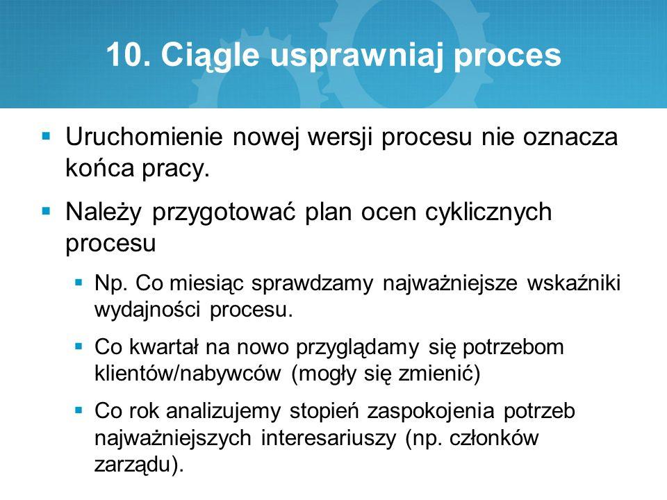 10. Ciągle usprawniaj proces