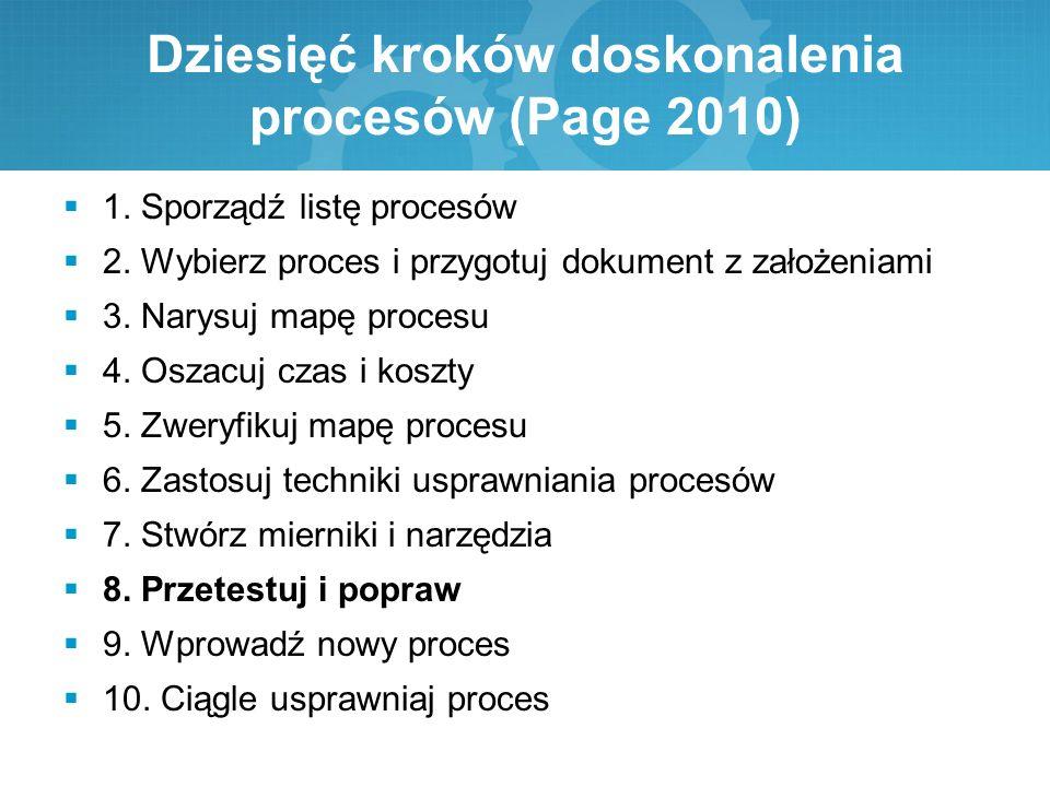 Dziesięć kroków doskonalenia procesów (Page 2010)
