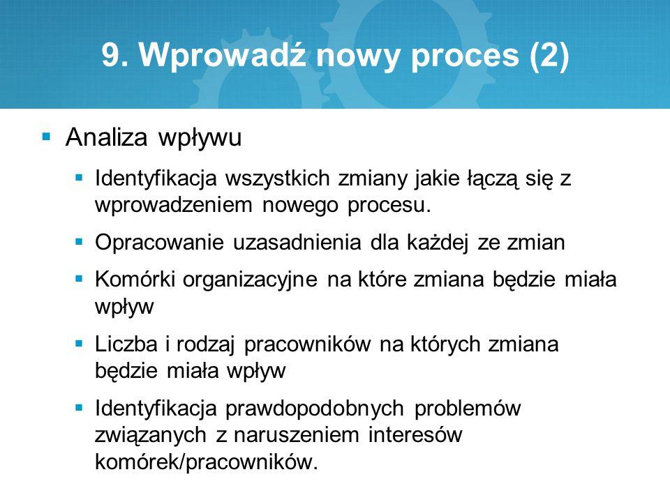9. Wprowadź nowy proces (2)