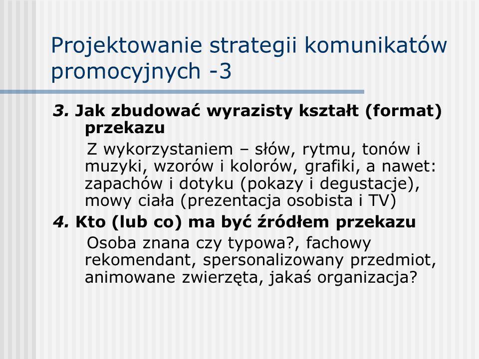 Projektowanie strategii komunikatów promocyjnych -3
