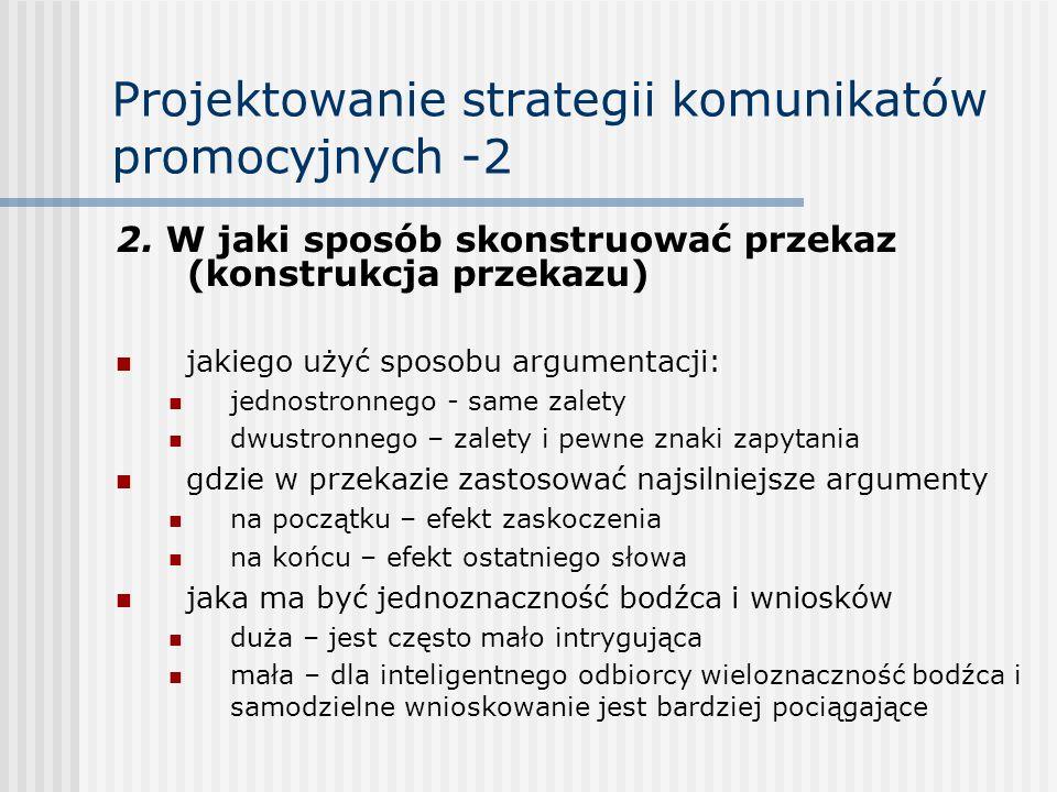 Projektowanie strategii komunikatów promocyjnych -2