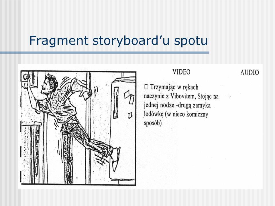 Fragment storyboard'u spotu