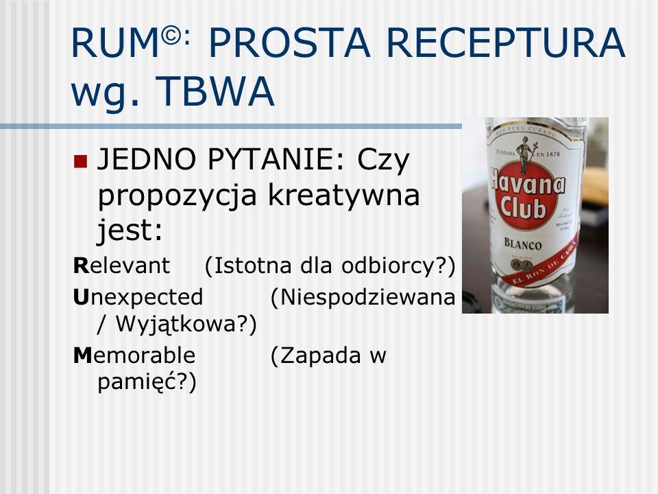 RUM©: PROSTA RECEPTURA wg. TBWA