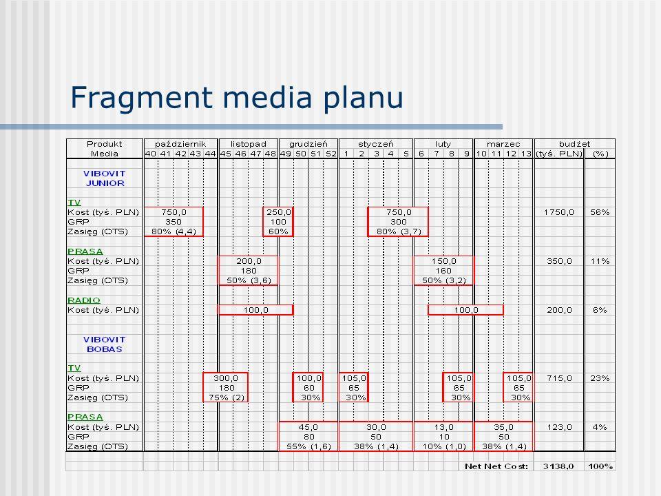 Fragment media planu