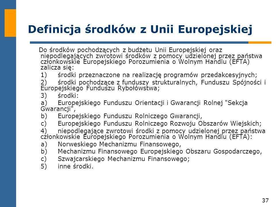 Definicja środków z Unii Europejskiej