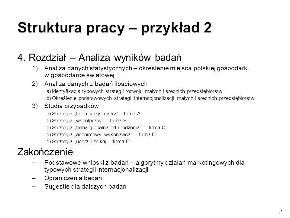 Struktura pracy – przykład 2
