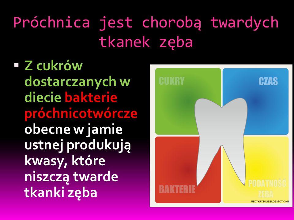 Próchnica jest chorobą twardych tkanek zęba
