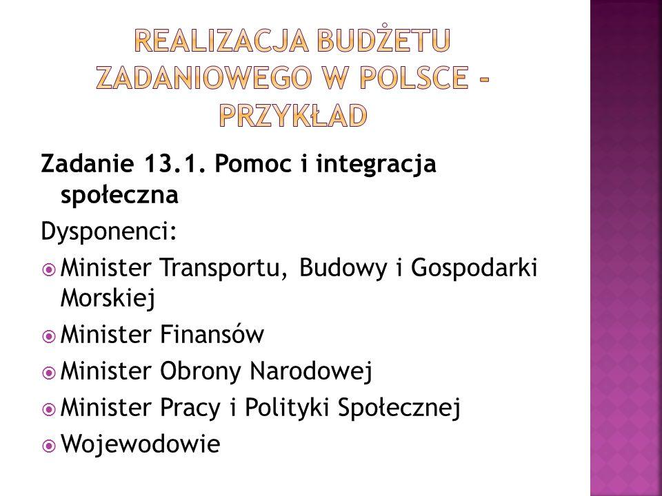 Realizacja budżetu zadaniowego w Polsce - przykład
