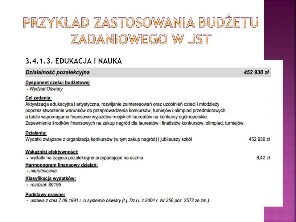 Przykład zastosowania budżetu zadaniowego w JST