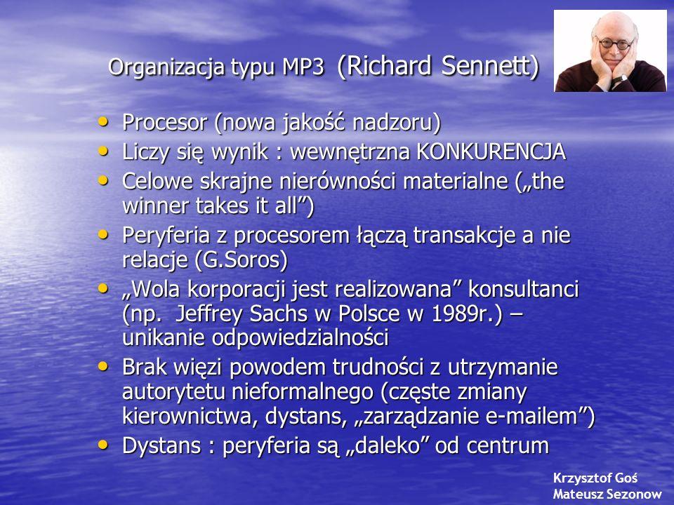 Organizacja typu MP3 (Richard Sennett)
