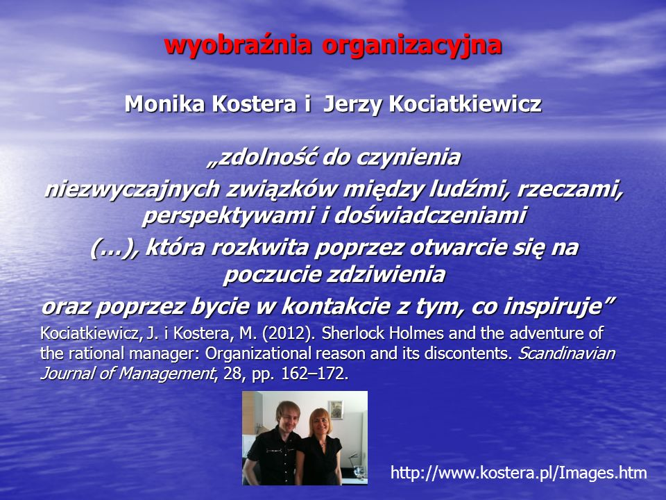 wyobraźnia organizacyjna Monika Kostera i Jerzy Kociatkiewicz