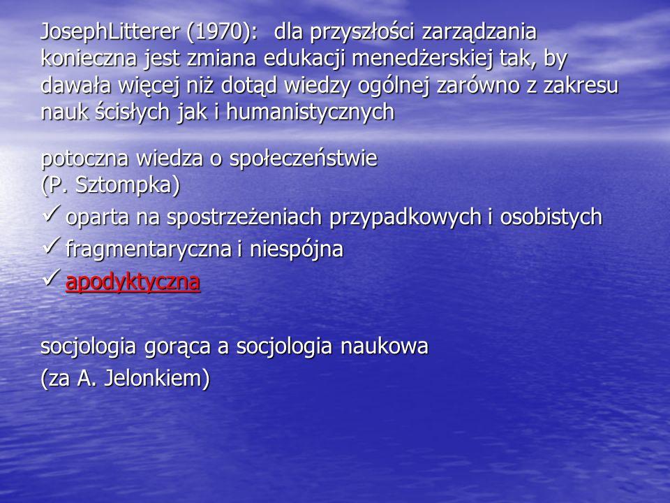 potoczna wiedza o społeczeństwie (P. Sztompka)