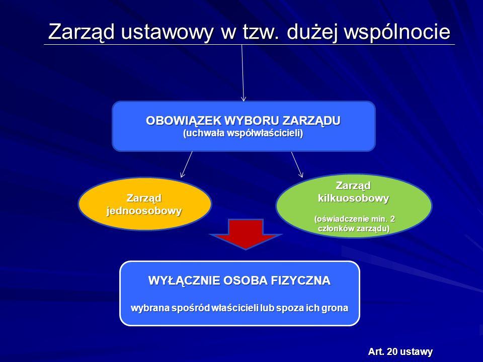Zarząd ustawowy w tzw. dużej wspólnocie