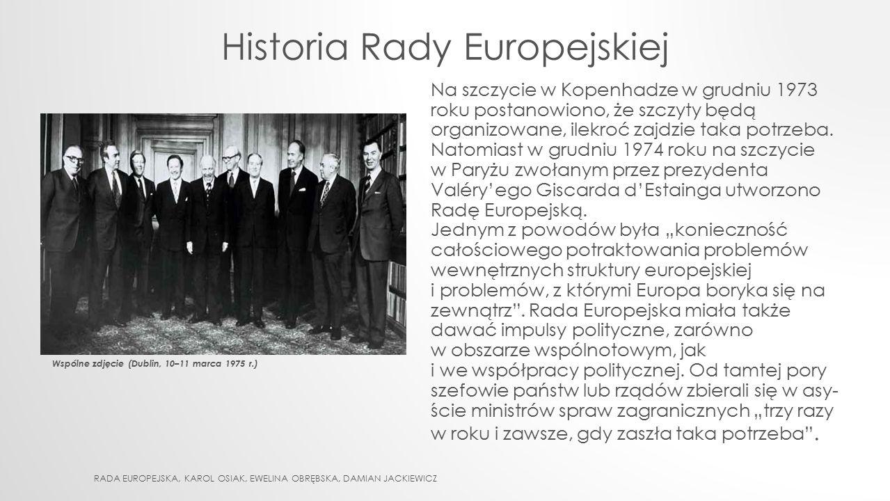 Historia Rady Europejskiej