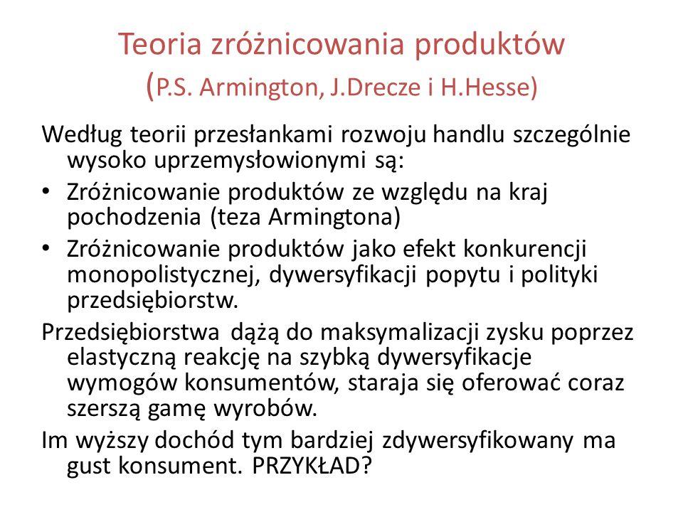 Teoria zróżnicowania produktów (P.S. Armington, J.Drecze i H.Hesse)