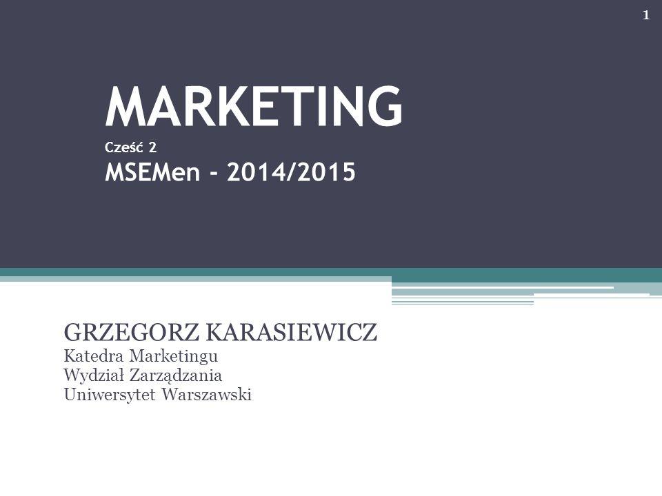 MARKETING Cześć 2 MSEMen - 2014/2015