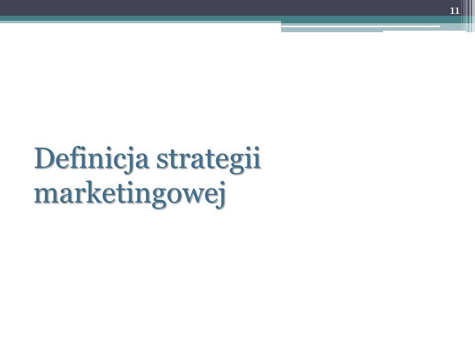 Definicja strategii marketingowej
