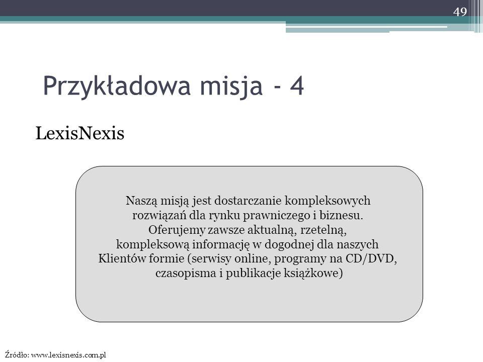 Przykładowa misja - 4 LexisNexis