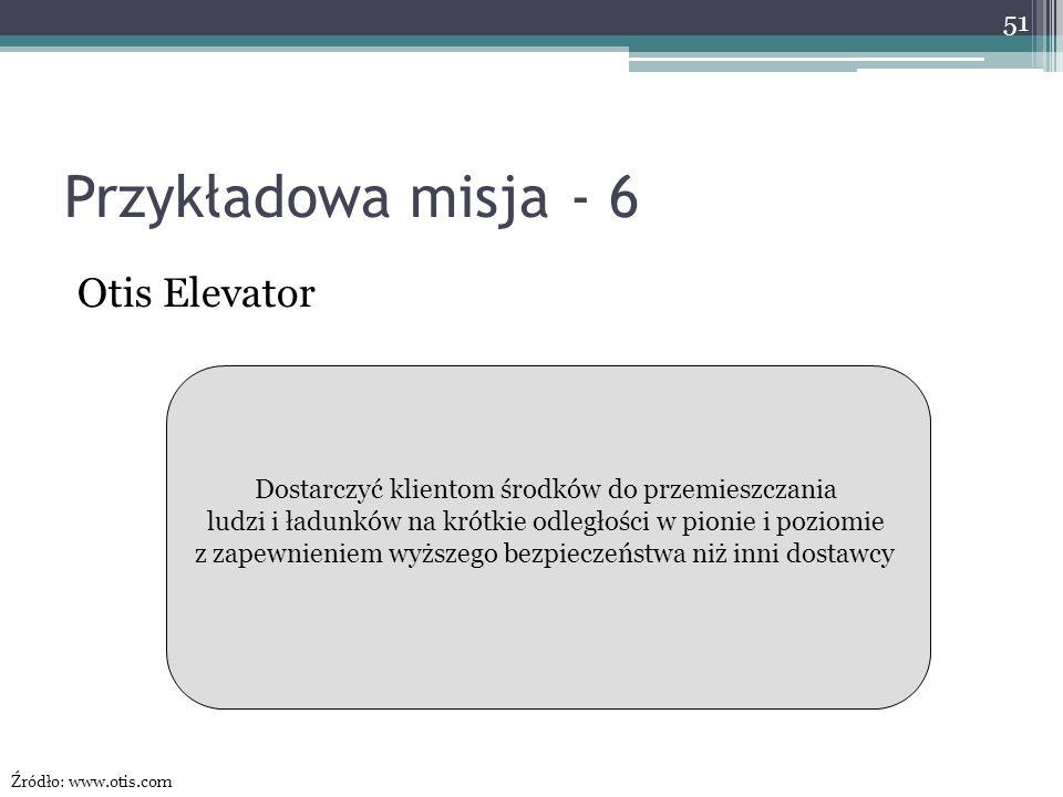 Przykładowa misja - 6 Otis Elevator