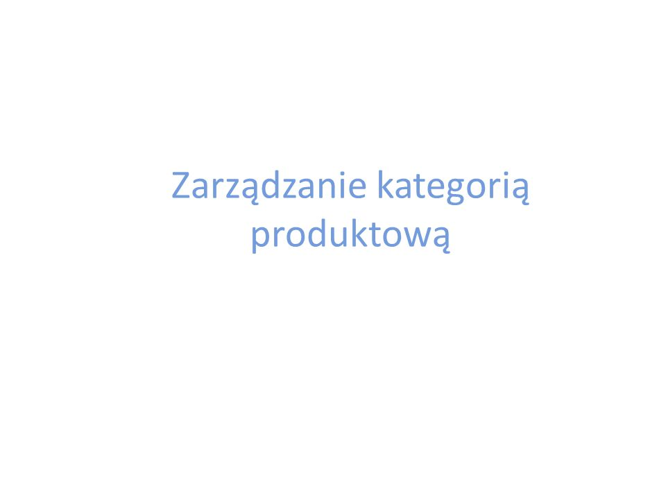 Zarządzanie kategorią produktową