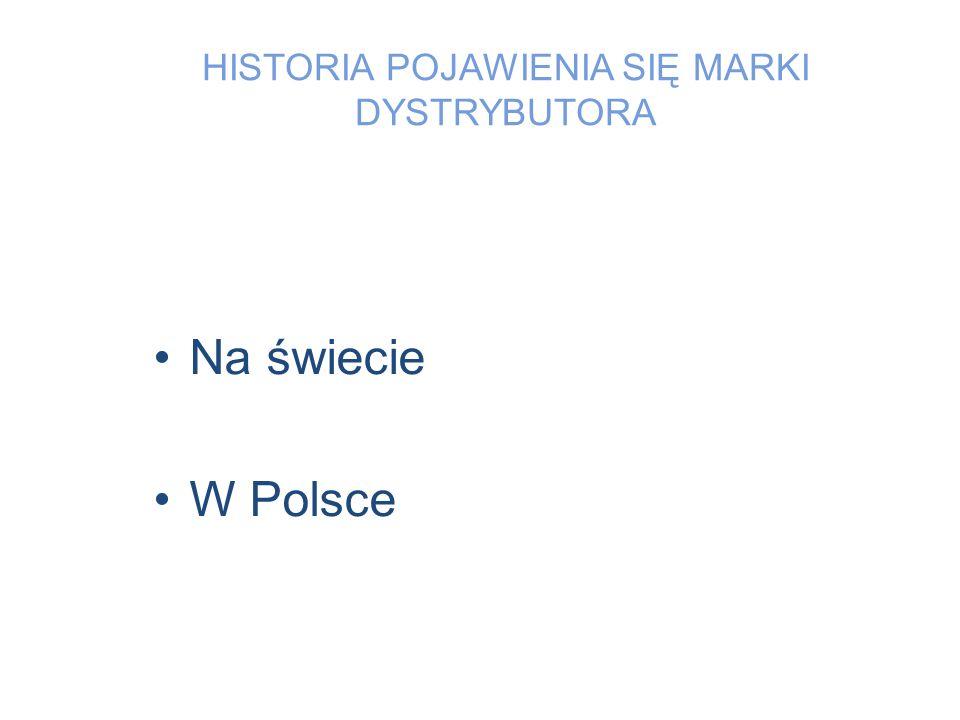 HISTORIA POJAWIENIA SIĘ MARKI DYSTRYBUTORA