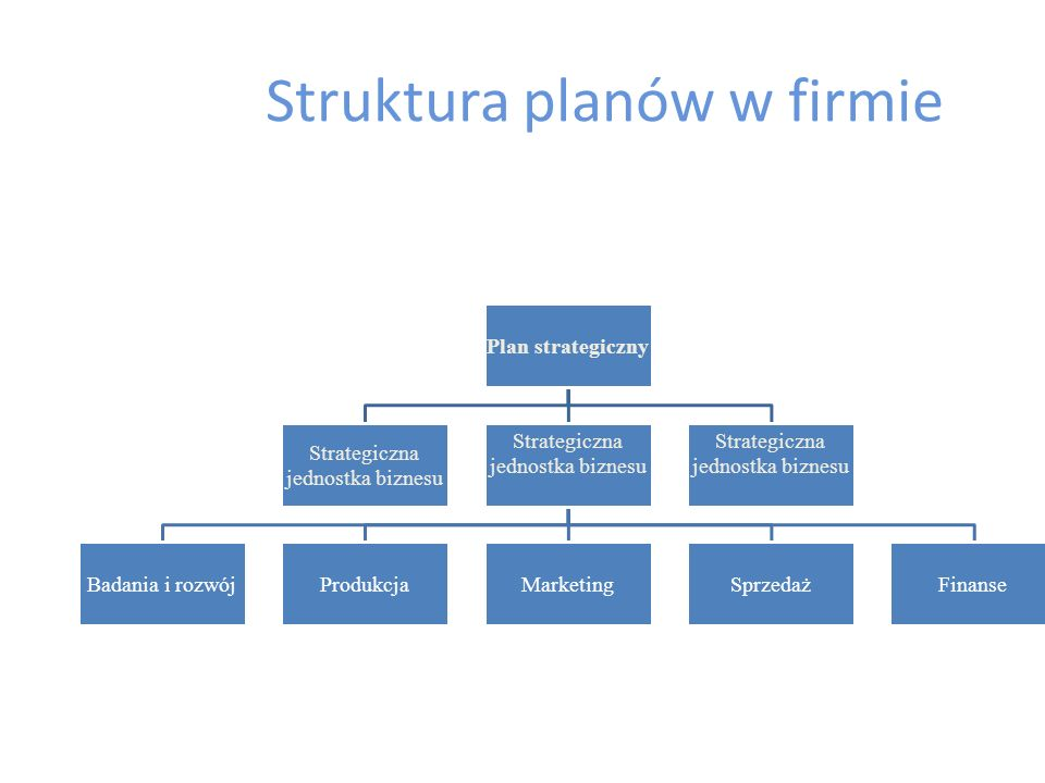 Struktura planów w firmie