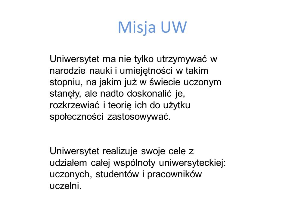 Misja UW