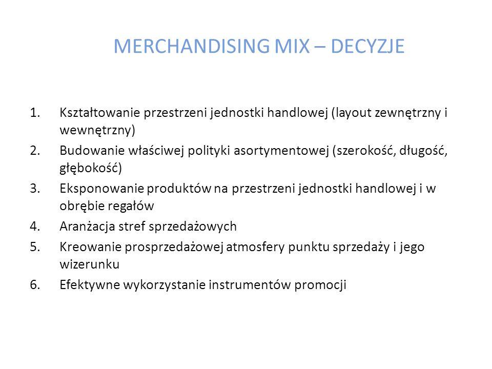MERCHANDISING MIX – DECYZJE
