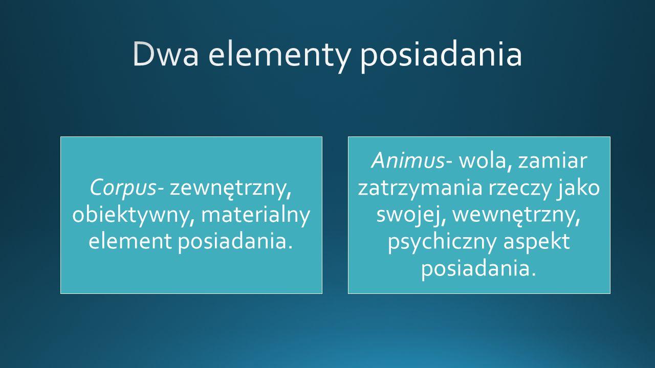 Dwa elementy posiadania
