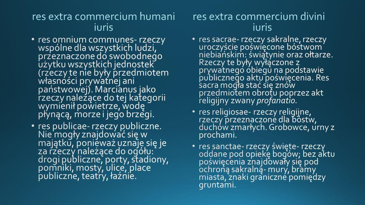 res extra commercium humani iuris res extra commercium divini iuris