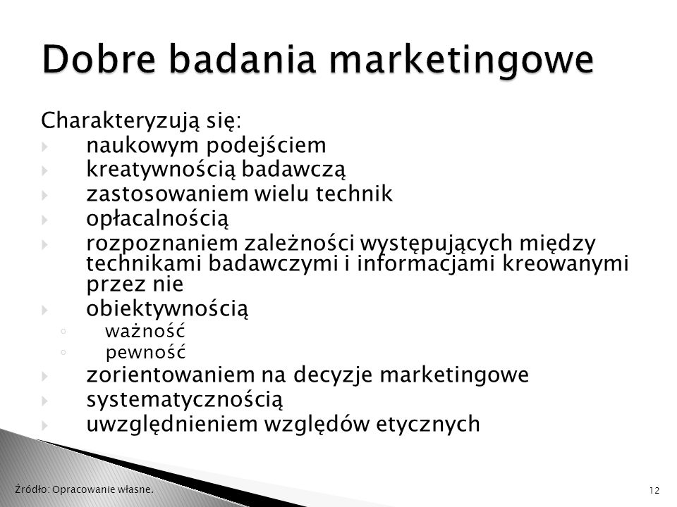 Dobre badania marketingowe