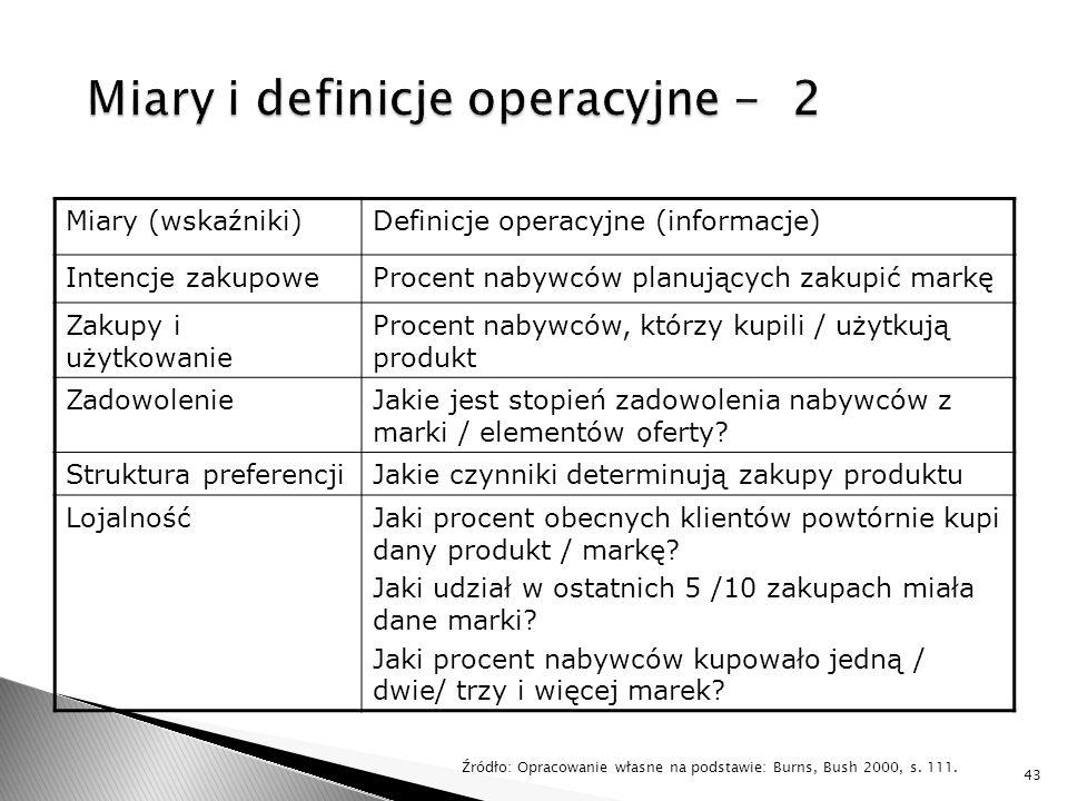 Miary i definicje operacyjne - 2