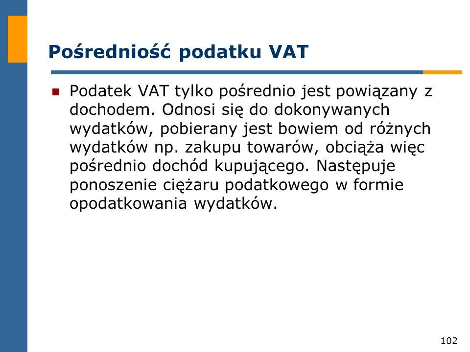 Pośredniość podatku VAT