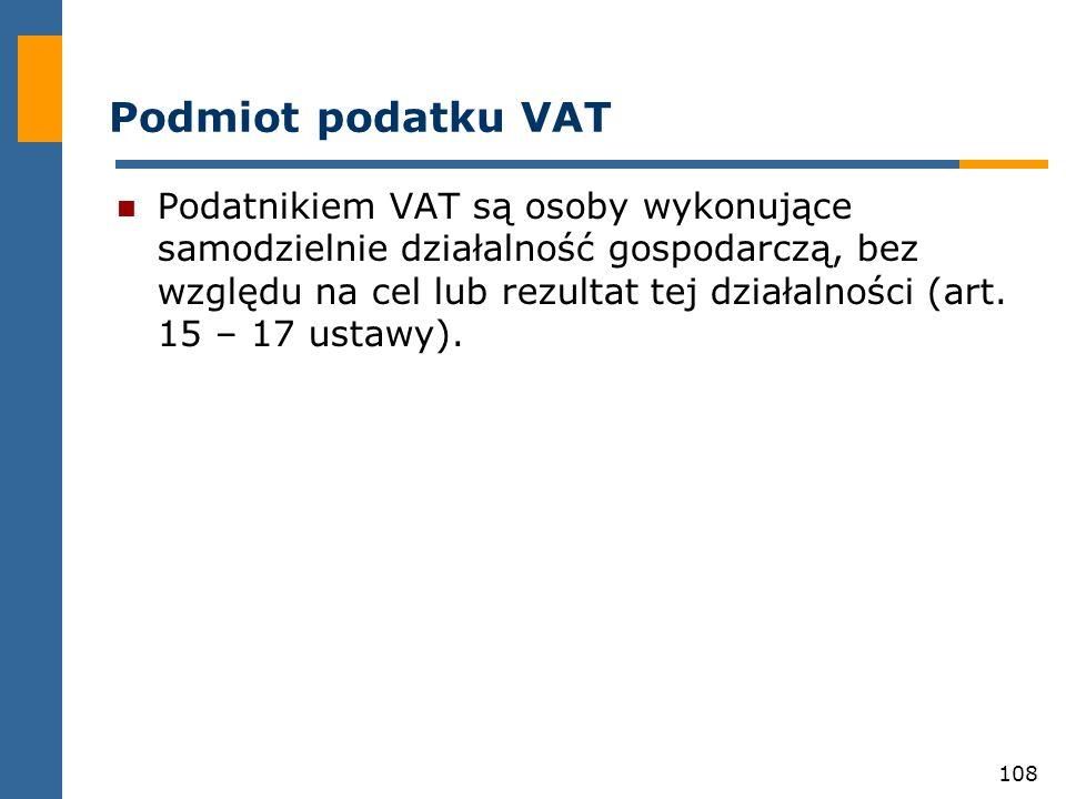 Podmiot podatku VAT
