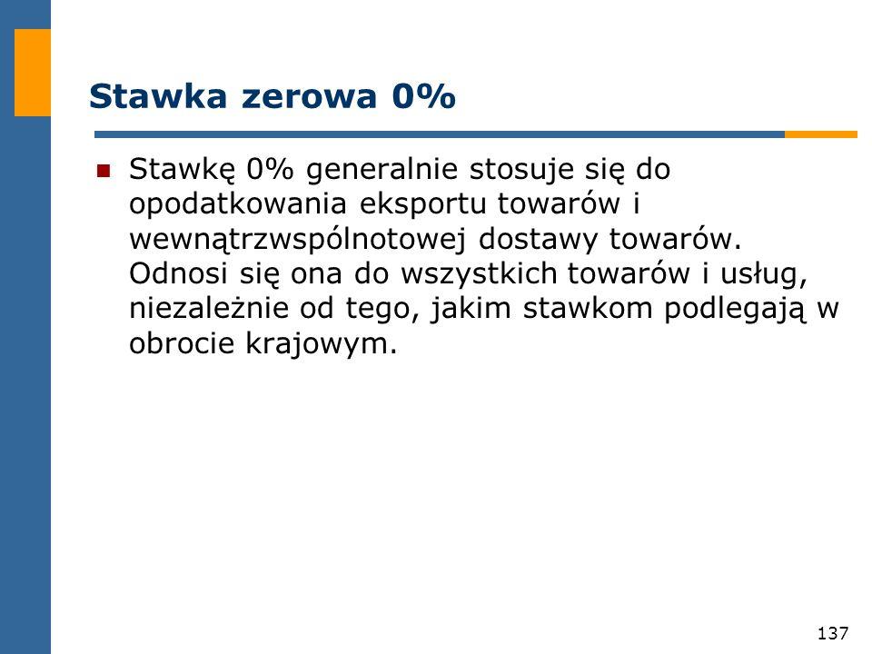 Stawka zerowa 0%