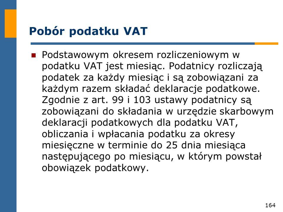 Pobór podatku VAT