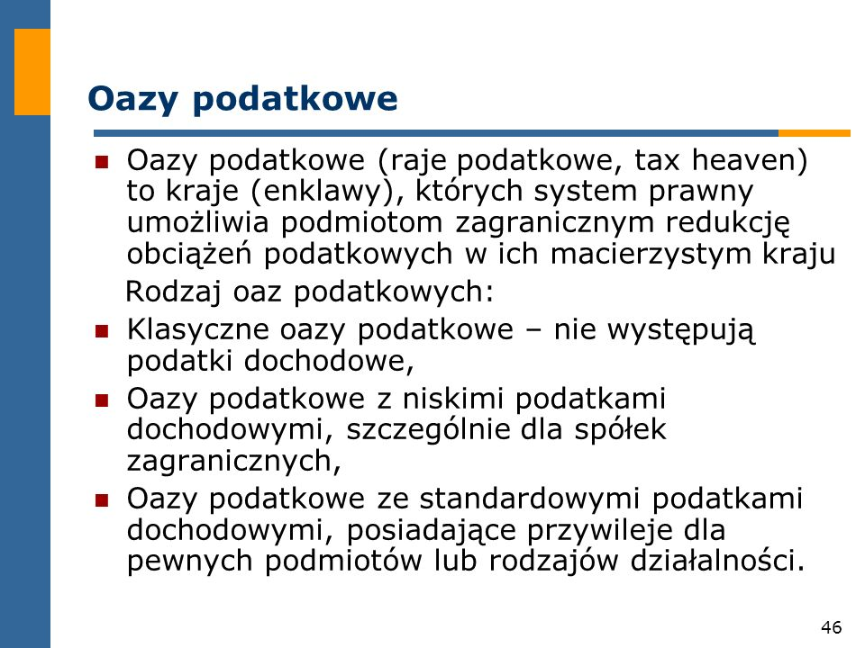 Oazy podatkowe